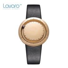 LAVARO Women Simple Design Watch Luxury Gold Stainless Steel Quartz Watches Genuine Leather Best Gift For Women