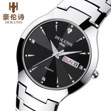 tungsten steel ultra thin men watch sport military Water Resistant auto clock calendar quartz wrist watch top brand luxury 2017