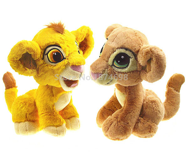 New The Lion King Cute Baby Young Simba And Nala Plush Toy 25cm