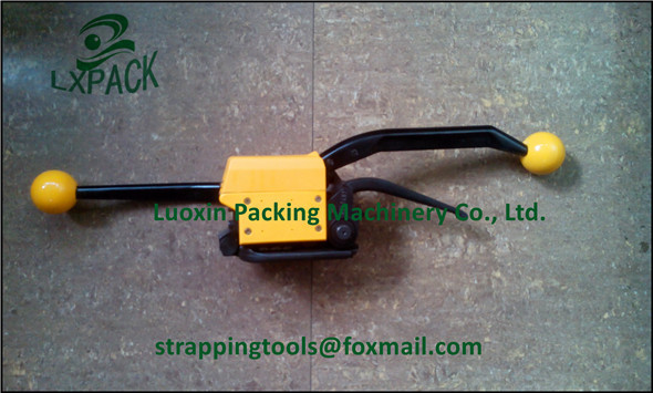 LX-PACK Free shipping! FLAT SURFACES MANUAL SEALLESS STRAPPING TOOL FOR STEEL STRAP 13 mm - 1/2, 16 mm - 5/8, 19 mm - 3/4 portable manual steel strapping tool seal free 1 2 3 4 handheld packaging equipment without seals steel banding machine a333
