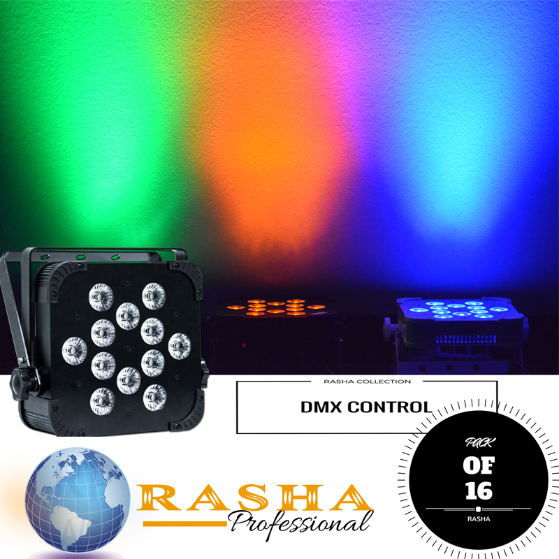 (Pack of 16)  Rasha Quad V12 with 4in1 RGBW/RGBA color Led's And Wireless DMX LED Flat light,Master-Slave mode-Synchronize light purnima sareen sundeep kumar and rakesh singh molecular and pathological characterization of slow rusting in wheat