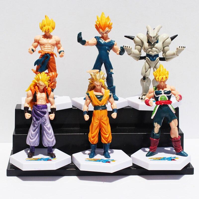 Anime Dragon Ball Z Super Saiyan Goku Vegeta Gotenks Buu PVC Action Figure font b Toys
