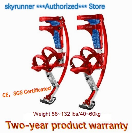 Skyrunner For People Weight 88~132 lbs/40~60kg Red Color Jumping Stilts/Skyrunner/Jump shoes/Flying Shoes/kangaroo jump