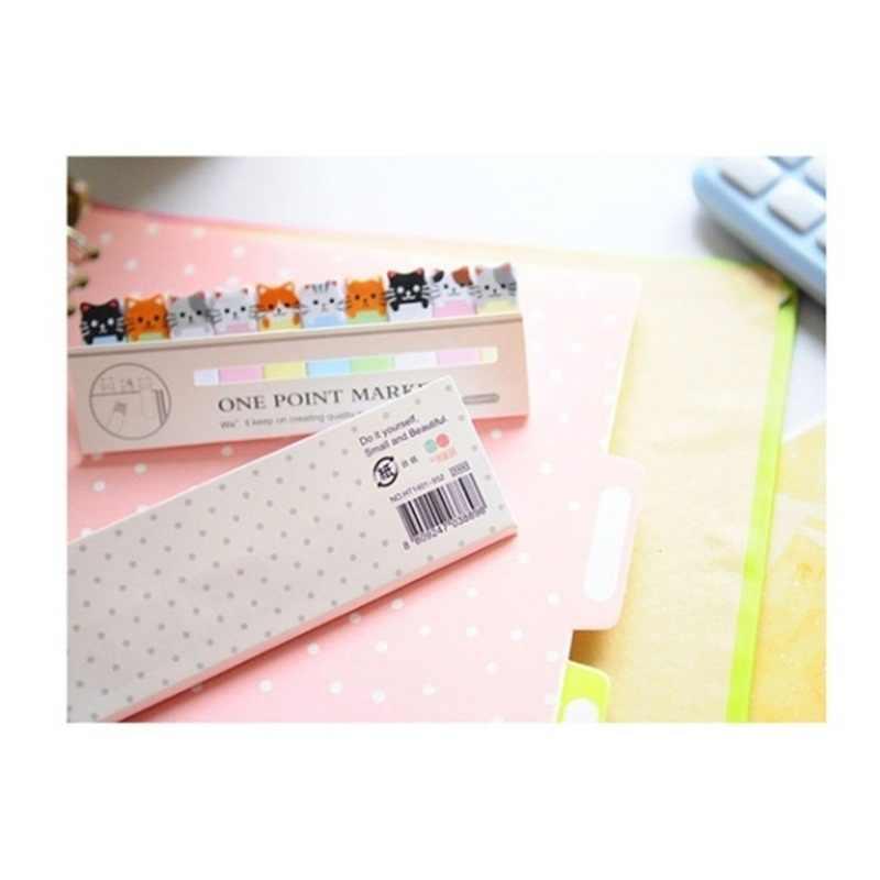 Decoração do escritório Bonito Engraçado Alegria Estilo Gato Adesivos Post It Bookmark Ponto Marcador Memorando Bandeiras Sticky Notes Escrever etiqueta de papel