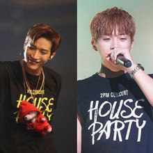 2PM 2019 House Party kpop concert shorts T-shirt korean fashion star t shirts 2 pm black tee Khun women men fans k-pop