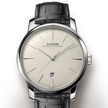 KAREBO Men Business Ultrathin Mechanical Wristwatch With ETA2824-2 Automtatic Self-Wind Movement Watch