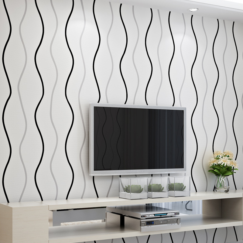 beibehang papel de parede curve stripe non-woven wallpaper modern minimalist living room bedroom sofa TV background wallpaper large mural papel de parede european nostalgia abstract flower and bird wallpaper living room sofa tv wall bedroom 3d wallpaper