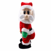 Christmas Ornaments Home Decor Party Decoration Standing Electric Santa Claus Sing Dance Doll Birthday Gifts Toys For Kids