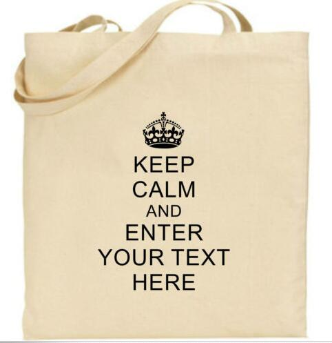 personalized keep calm personalised shopping wedding tote bags hen
