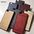 Coque lite caja original de lujo del estuche rígido para huawei ascend p8 p8 lite p 8 p8lite marca teléfono de madera detrás encajona la cubierta protectora casos