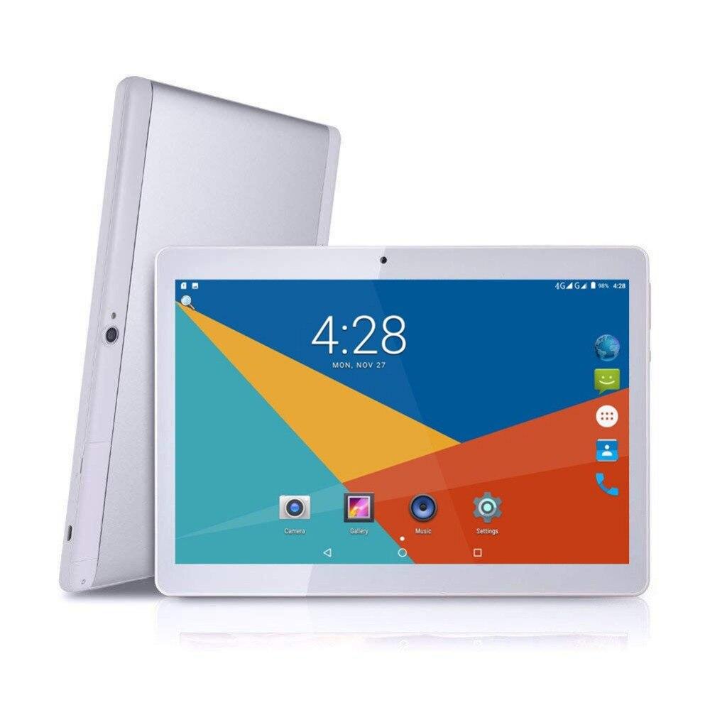 Nouvelle tablette android 10.1 pouces, tablette Wifi avec écran tactile IPS 1920*1200, 4 go de RAM 64 go ROM Bluetooth et écran double caméra IPS
