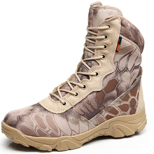 Men Military Tactical Boots Autumn Winter Waterproof Leather Snake Army Boots Desert Safty Work Shoes Combat Ankle Boots army fan outdoor camouflage non slip tactical boots men s combat boots commando army boots men desert safty shoes
