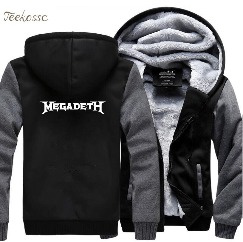 Hot Sale Coat Music Hoodie Winter Warm Fleece Hip Hop Streetwear Zipper Sweatshirts Men Thick Hoodies Punk Rock Jacket Sportwear