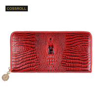 Genuine Leather Women Wallet Fashion Brand ID Card Holder Coin Purse Pockets Clutch Dollar Price Long