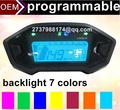 Бесплатная доставка мотоцикла спидометр 7 цвет подсветки дополнительно подсветка