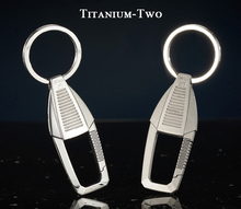 Luxury Titanium Car Key Chain Classic Shape Super Flagship Chains Top Exquisite for Rings Men Women Best Gifts