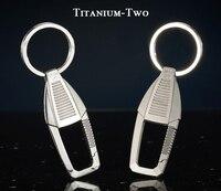 Luxury Titanium Car Key Chain Classic Shape Super Flagship Titanium Key Chains Top Exquisite for Key Rings Men Women Best Gifts