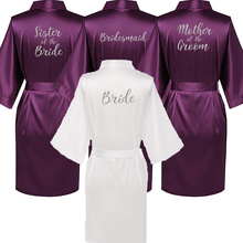 C Fung new purple robe silver writing mother of the groom robes wedding Short Bride kimono
