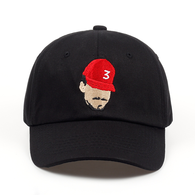4cf0411b25d New Popular Chance The Rapper 3 Dad Hat Cap Black Embroidery Baseball Cap Hip  Hop Streetwear