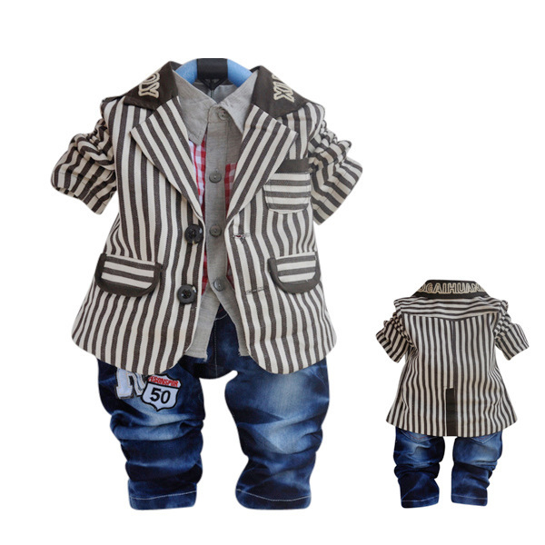 Anlencool 2017 Free shipping  cotton children's clothing brand baby Fashion suits clothes sets newborn baby boy clothing spring