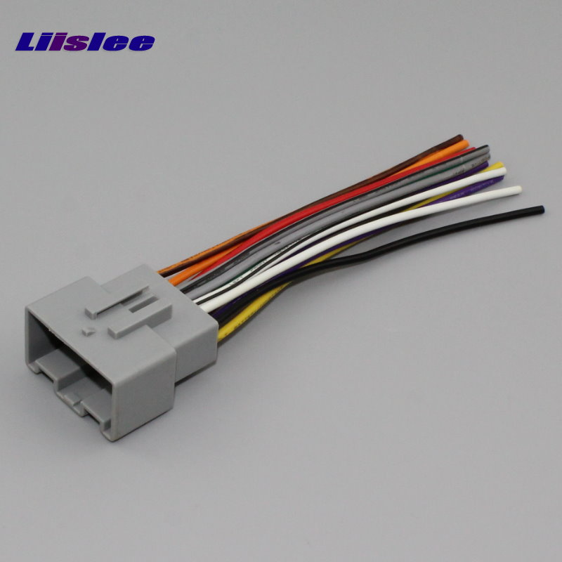 liislee plugs into factory harness for ford festiva 2010~2018 radio power  wire adapter aftermarket stereo cable male din to iso-in cables,