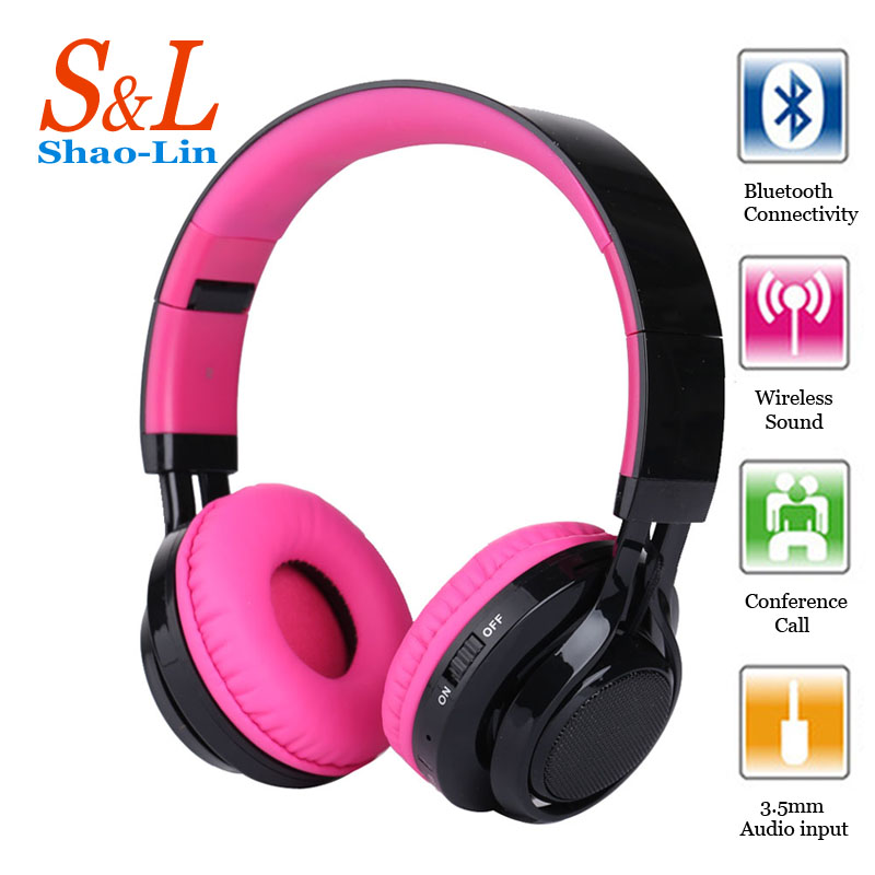 SL Newest Bluetooth Headset earphones with MIC Wireless Bluetooth headphones glowing gaming headphones for a mobile phone and PC newest mini bluetooth wireless earpiece kk t02 mobile phone fully support bluetooth cell phone headphones