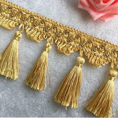 5Yards/Lot DIY Lace Tassel Fringe Cotton Ethnic Lace Trim Ribbon Sewing Latin Dress Stage Garment Curtain Decorative SM380