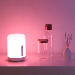 Image 3 - Xiaomi Mijia Bedside Lamp 2 Xiaoai Clock Smart LED Bedroom Night Colorful Desk Light Voice Control Switch for Homekit Mihome APP