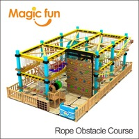 MAGIC FUN Top manufacturer supplies park city ropes challenge course team building activities indoor high rope obstacle course