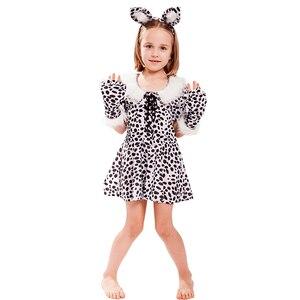 Image 3 - Eraspooky Cute Cartoon Animal Cosplay Girls Tiger Leopard Dress Halloween costume for kids Christmas Carnival Outfit Headband