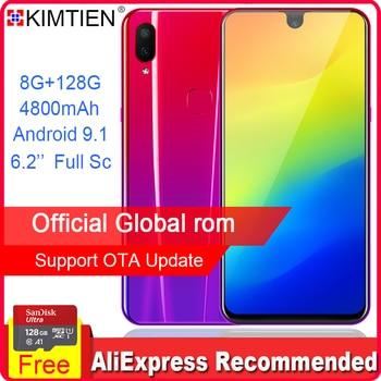 KIMTIEN Smartphone Mobile Phone 8GB 128GB Octa core 6.2 Full Screen Dual Rear HD Camera Android 4G phone Xiaomi Huawei iphone smartphone