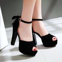 แห่ใหม่รองเท้าผู้หญิงหลาขนาดเล็ก32 33ขนาดใหญ่ขนาด46 45 44 43 42 41 40ส้นสูง12เซนติเมตรแพลตฟอร์ม3เซนติเมตรEURขนาด31-47