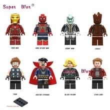 50pcs Model building blocks Infinity War Iron Man 50 Spider-Man Ebony Maw Thor Doctor Strange Black Widow Star-Lord kids toys