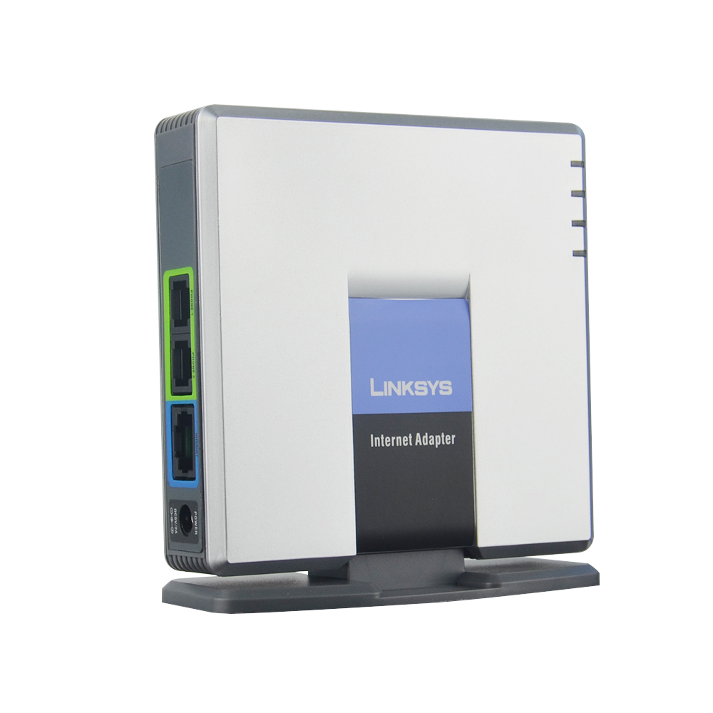 Free Shipping UNLOCKED LINKSYS PAP2T VOIP Phone Voice Adapter with 2 FXS ports SIP VoIP Adapter