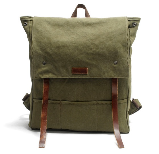 ФОТО 2016  encryption Canvas Shoulder Bag with the first layer of leather and fashion leisure bag man Backpack 82033K-1