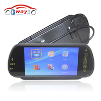 Car Styling 7 Inch TFT LCD Car Mirror MP5 Car Reverse Rearview Touch Screen Monitor For