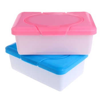 Dry Wet Tissue Paper Case Baby Wipes Napkin Storage Box Plastic Holder Container  M15