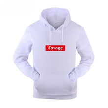 New Mens Hoodies Savage Hoodies Parody No Heart X Savage Mode Slaughter Gang ATL Cotton Long Sleeved Casual Tracksuit Costume(China)