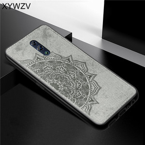 Image 1 - For OPPO RenO Case Shockproof Cover Soft Rubber Silicone Luxury Cloth Texture Phone Case For OPPO RENO Back Cover For Oppo Reno