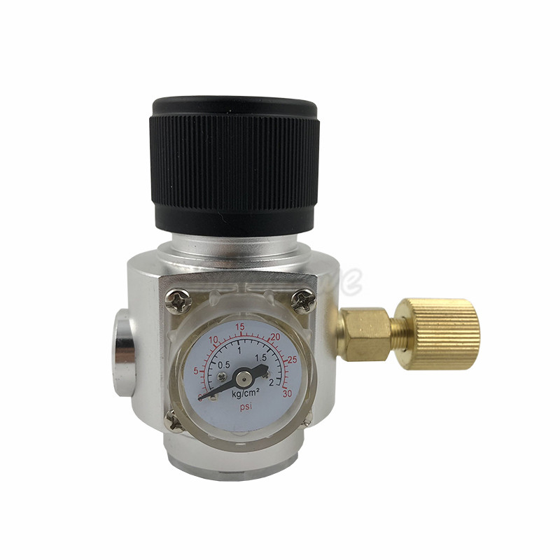 Homebrew CO2 Mini Gas Regulator 30PSI with 3/8 thread For Beer Brewing