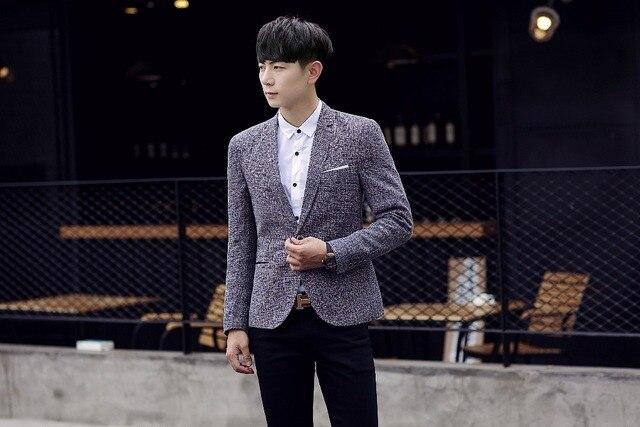 New Fashion Style Cotton fiber Blazer Men Linen Casual Suit Mens Blazers Slim Fit Single Breasted Men Flax Suit Jacket 5XL