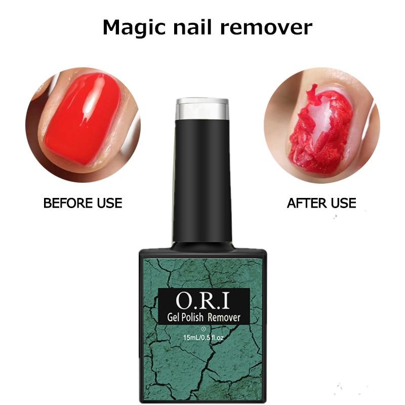 O.R.I 15ml Nail Degreaser Gelpolish Remover Professional Soak-Off Nail Polish Remover cleaner Gellack Lacquer Gel Magic Remover