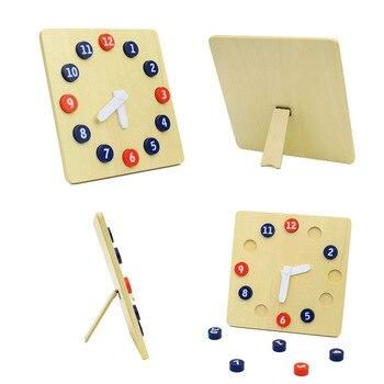Juguete Juguetes Montessori Reloj Para Clásica Manos Con Infantil Bebé Educación Preescolar Niños Madera Movibles tCxhQdsr