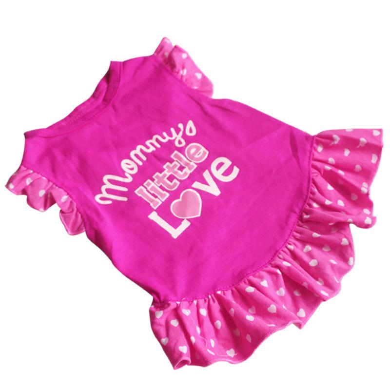 Small Dog Summer Dresses Vest Top Clothes Puppy Pet Dress Skirt Coat Apparel Pets Cats Dog Shirts Girl