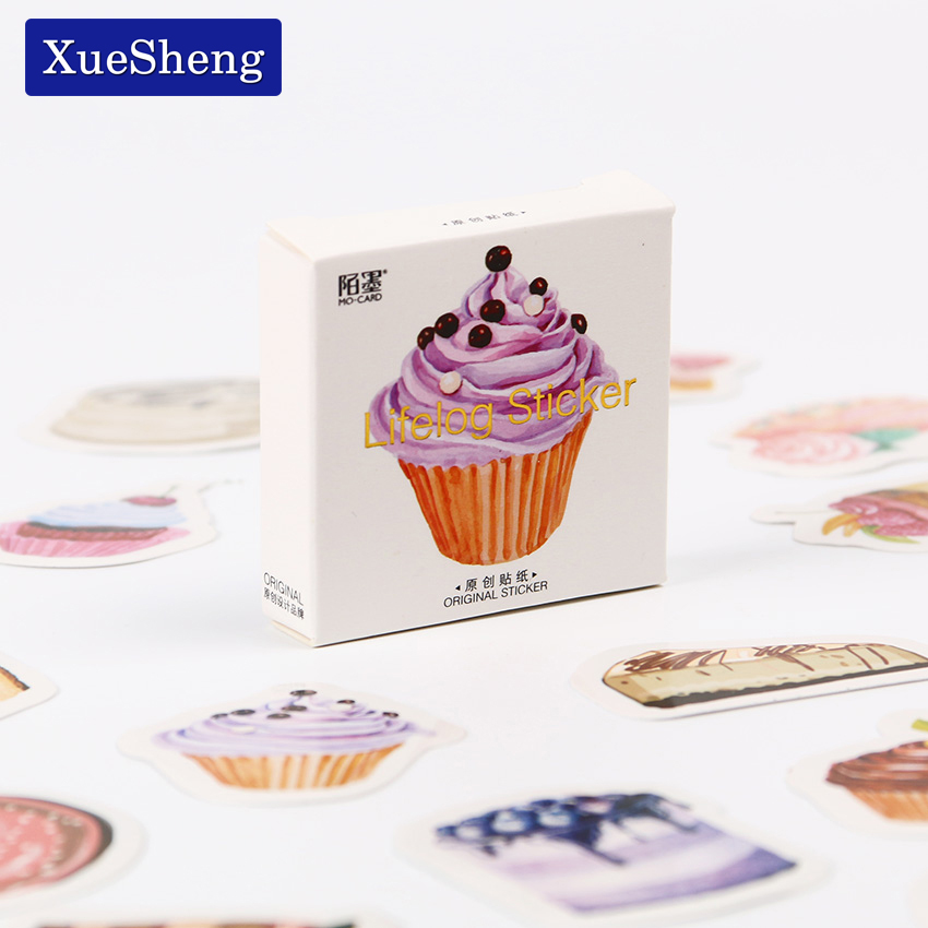 135PCS/3sets  Kawaii Birthday Cake Mini Paper Sticker Decoration DIY Album Diary Scrapbooking Label Sticker Student Stationery