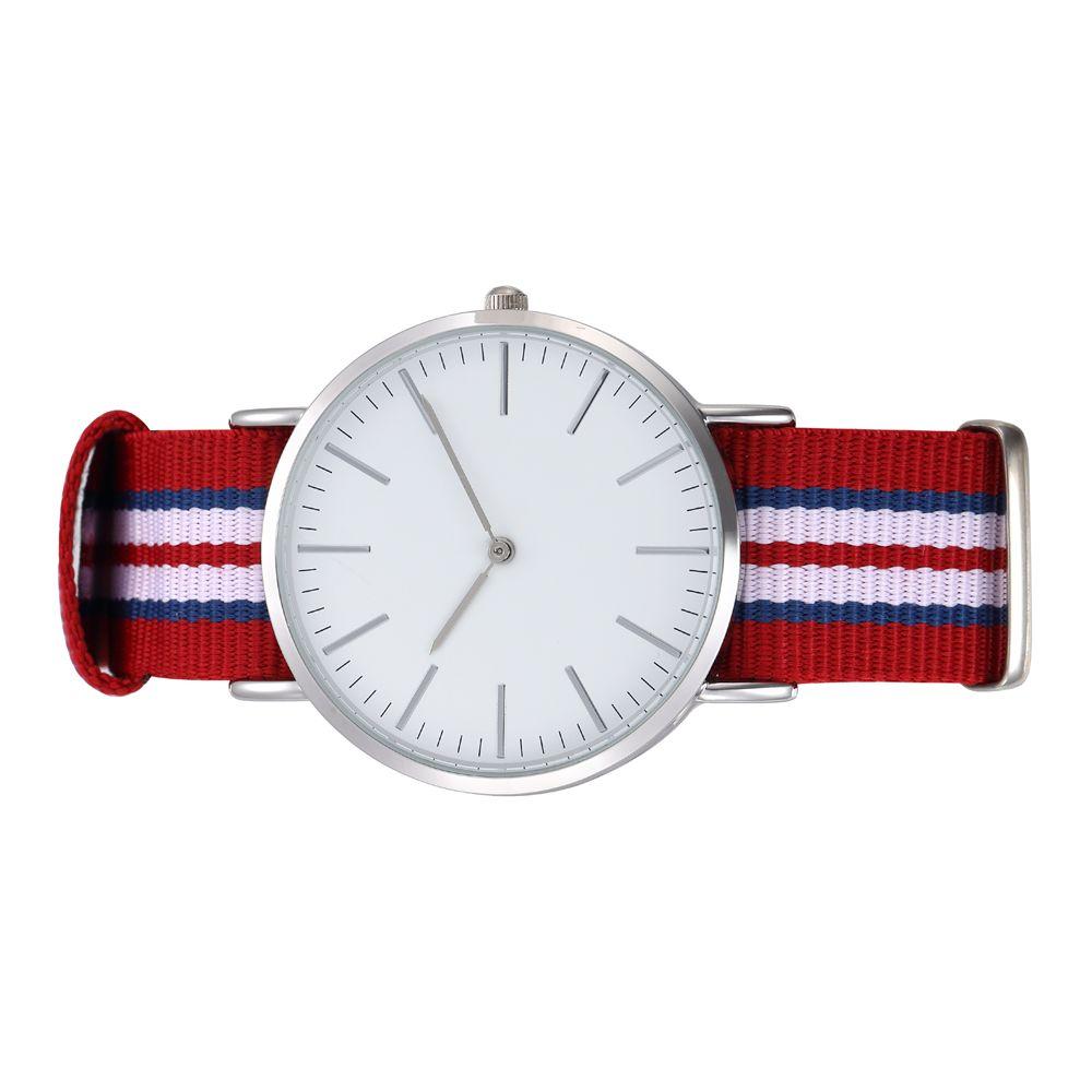 Round Case Mid Size Quartz Watch Adjustable Watchband Stainless Steel Backcase