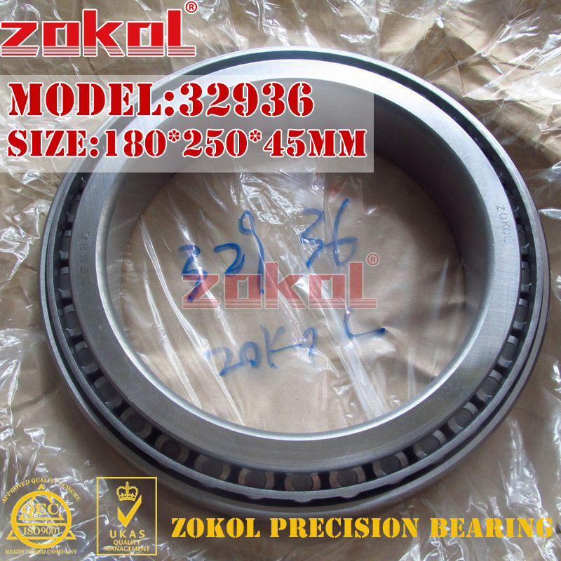 ZOKOL bearing 32936 2007936E Tapered Roller Bearing 180*250*45mm na4910 heavy duty needle roller bearing entity needle bearing with inner ring 4524910 size 50 72 22