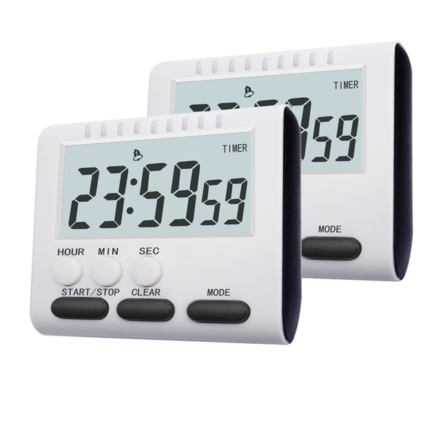 Multifunctional Kitchen Timer Alarm Clock Home Cooking Practical Supplies Cook Food Tools Kitchen Accessories 2 Colors 1