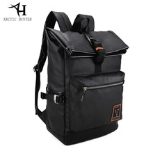 3aa34fff Арктический Охотник корейский стиль молодежь сумка-мешок простой дизайн мужчин  свободного покроя мужской новый рюкзак школьные с.