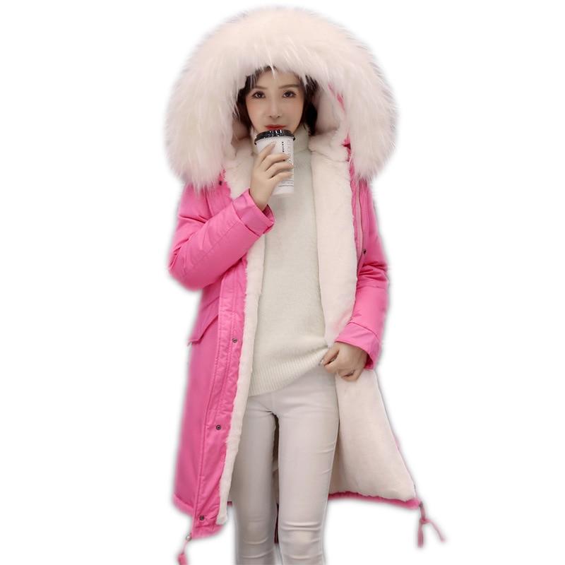 Manteau De Femme Col Pink Longs Fourrure Mode Parkas Chaud Akslxdmmd Blue Manteaux Lh1092 White Femmes Lake 2019 Mujer Nouvelles Veste À Fur lake Capuchon pink armygreen Épais D'hiver Fur qBvwtU